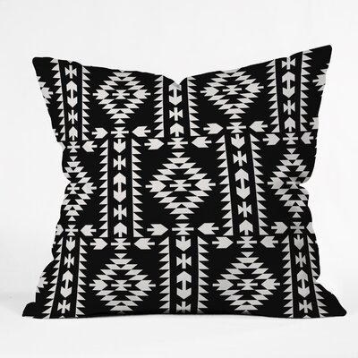 Throw Pillow Size: 18 H x 18 W x 5 D, Color: Black