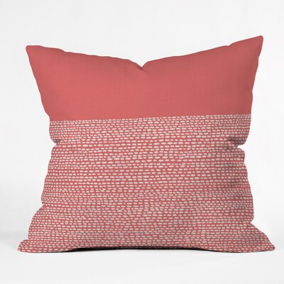 Jacqueline Maldonado Throw Pillow Size: 18 H x 18 W x 5 D, Color: Cayenne