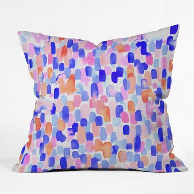 Throw Pillow Size: 18 H x 18 W x 5 D, Color: Blue/Orange