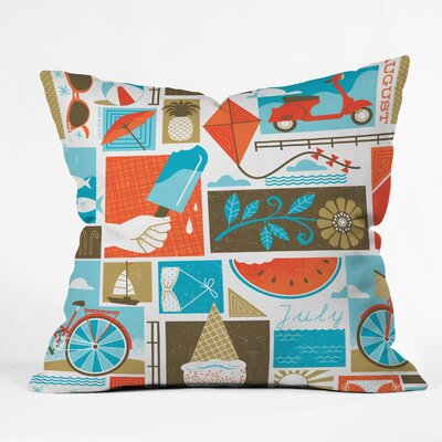 Lucie Rice Throw Pillow Size: 16 H x 16 W x 4 D