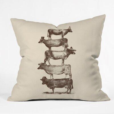 Florent Bodart Cow Nuts Throw Pillow Size: 18 x 18