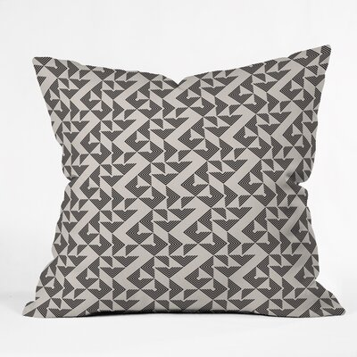 Throw Pillow Size: 16 H x 16 W x 4 D, Color: Neutral