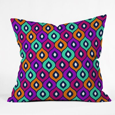 Throw Pillow Size: 18 H x 18 W x 5 D, Color: Purple