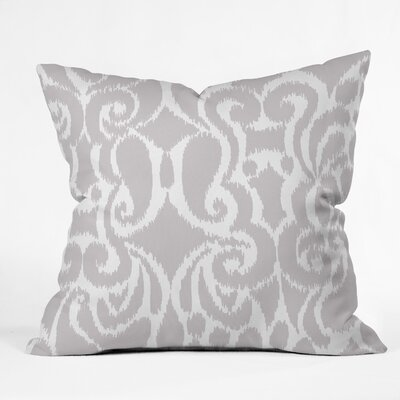 Throw Pillow Size: 16 H x 16 W x 4 D, Color: Quiet Gray