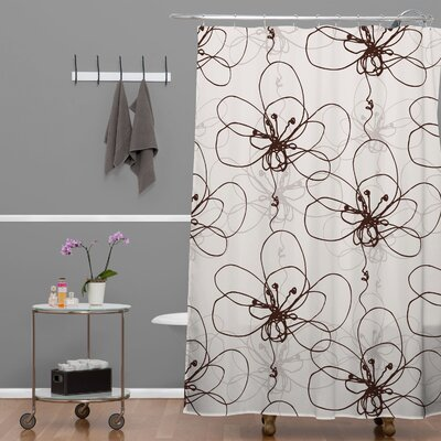 Rachael Taylor Tonal Floral Shower Curtain