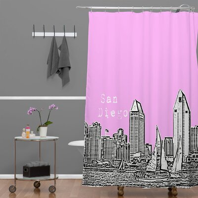 Bird Ave San Diego Shower Curtain Color: Pink