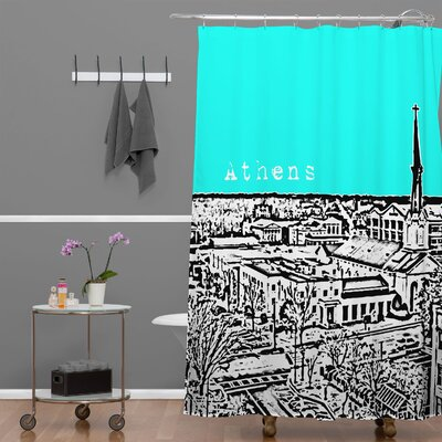 Bird Ave Athens Shower Curtain Color: Aqua