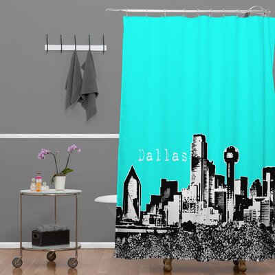 Bird Ave Dallas Shower Curtain Color: Aqua