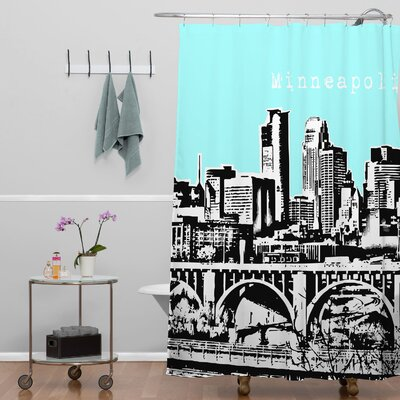Bird Ave Minneapolis Shower Curtain Color: Sky
