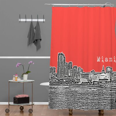 Bird Ave Miami Shower Curtain Color: Red
