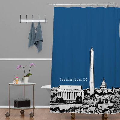 Bird Ave Washington Shower Curtain Color: Navy
