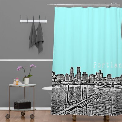 Bird Ave Portland Shower Curtain Color: Ice