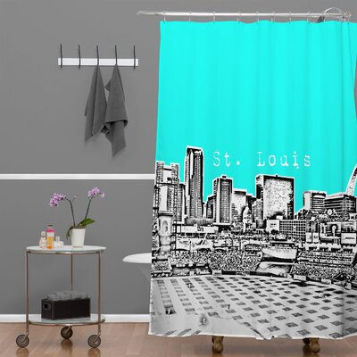 Bird Ave St Louis Shower Curtain Color: Aqua