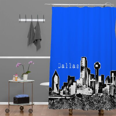 Bird Ave Dallas Shower Curtain Color: Royal