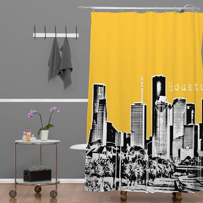 Bird Ave Houston Shower Curtain Color: Yellow