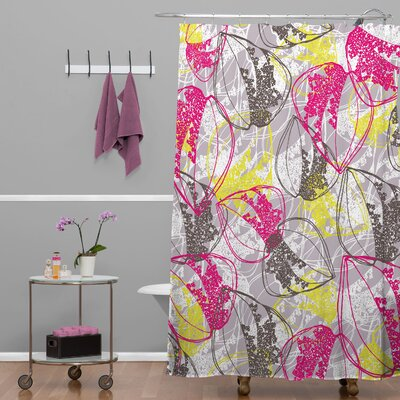 Rachael Taylor Retro Leaves Shower Curtain