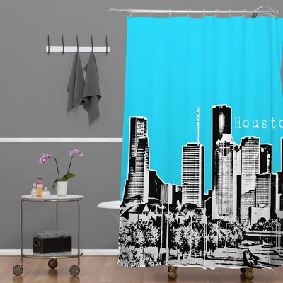 Bird Ave Houston Shower Curtain Color: Sky