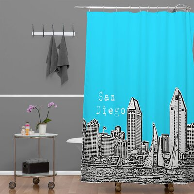 Bird Ave San Diego Shower Curtain Color: Sky