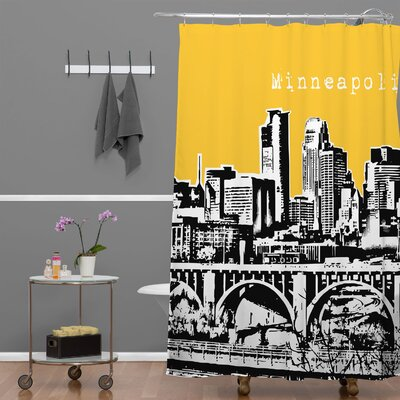 Bird Ave Minneapolis Shower Curtain Color: Yellow