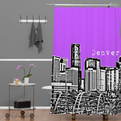 Bird Ave Denver Shower Curtain Color: Purple