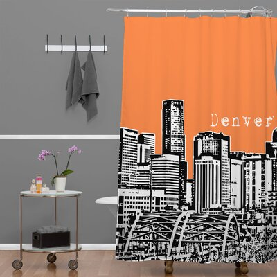 Bird Ave Denver Shower Curtain Color: Orange
