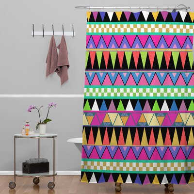 Bianca Green Zigzag Shower Curtain