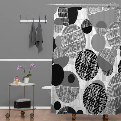 Rachael Taylor Textured Geo Shower Curtain Color: Gray Black Textured Geo