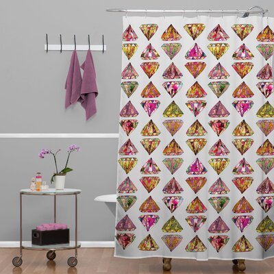 Bianca Green These Diamonds Are Forever Shower Curtain
