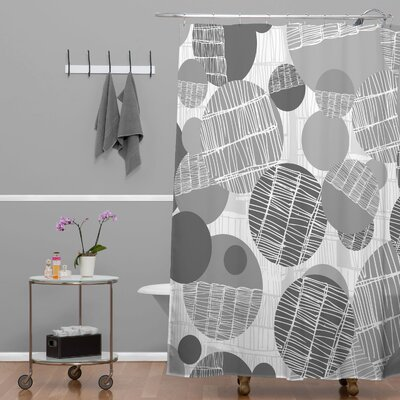 Rachael Taylor Textured Geo Shower Curtain Color: Gray Textured Geo 1