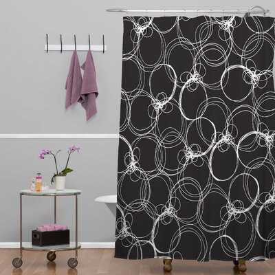 Rachael Taylor Circles Shower Curtain Color: Black White Circles 1