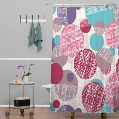 Rachael Taylor Textured Geo Shower Curtain Color: Pink Purple Textured Geo 1