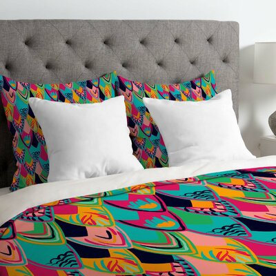 Vy La Love Birds 1 Duvet Cover Size: Queen, Fabric: Lightweight