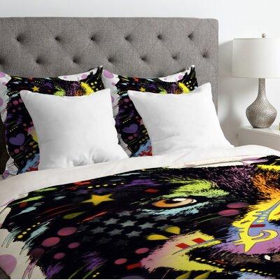 Dean Russo Border Collie Duvet Cover Size: Queen, Fabric: Lightweight