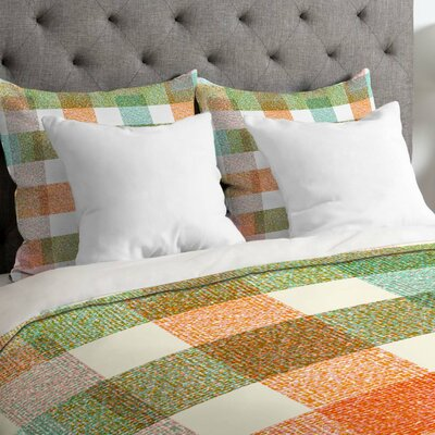 Zoe Wodarz Pastel Plaid Duvet Cover Size: King, Fabric: Lightweight