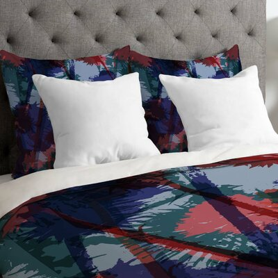 Sarah Bagshaw Thistles Duvet Cover Size: Queen, Fabric: Lightweight