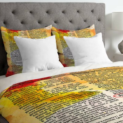 Susanne Kasielke Pretty Dictionary Art Duvet Cover Size: Twin, Fabric: Lightweight