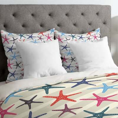 Zoe Wodarz Star Fish Duvet Cover Size: Queen, Fabric: Lightweight