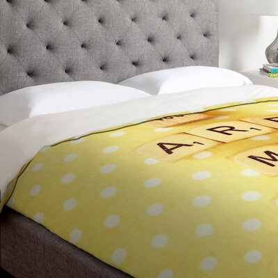 Happee Monkee You Are My Sunshine Duvet Cover Size: Queen, Fabric: Lightweight