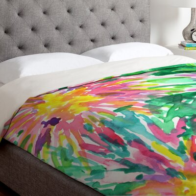 Joy Laforme Floral Confetti Duvet Cover Size: King, Fabric: Lightweight