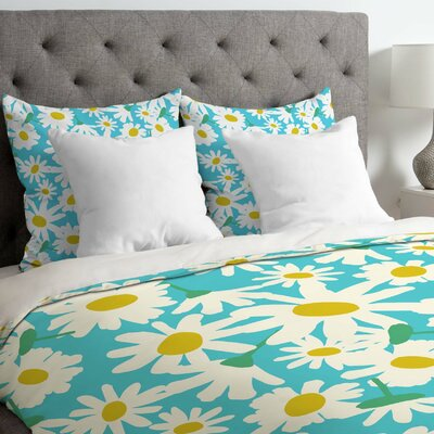 Zoe Wodarz Daisy Do Right Duvet Cover Size: Twin, Fabric: Lightweight