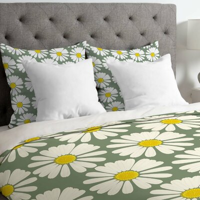 Georgiana Paraschiv Chamomile Duvet Cover Size: Queen, Fabric: Lightweight