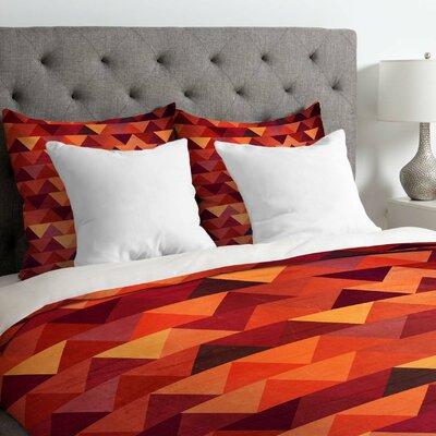 Iveta Abolina Trianglerain Duvet Cover Size: Queen, Fabric: Lightweight
