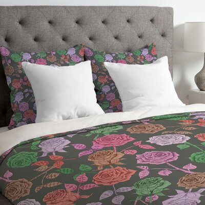 Bianca Green Lightweight Roses Vintage Duvet Cover Size: Twin