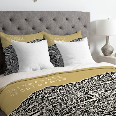 Bird Ave Lightweight University of Colorado Duvet Cover Size: Queen