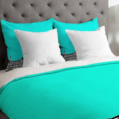 Bird Ave Lightweight Chapel Hill Duvet Cover Size: Queen, Color: Aqua