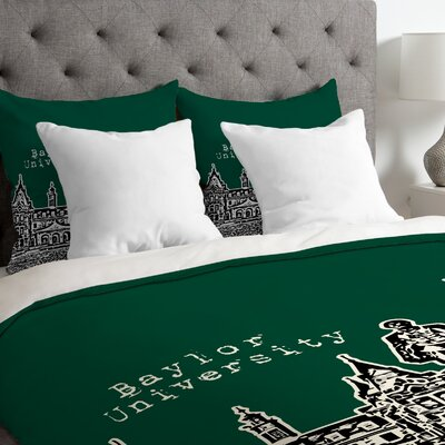 Bird Ave Lightweight Baylor University Duvet Cover Size: King