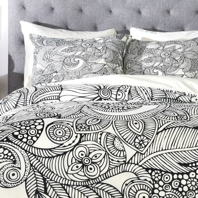 Valentina Ramos Lightweight Doodles Duvet Cover Size: Twin