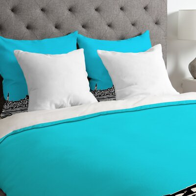 Bird Ave Lightweight Chapel Hill Duvet Cover Color: Blue, Size: King