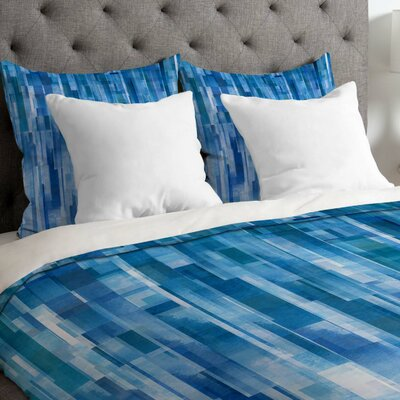 Jacqueline Maldonado Lightweight Rain Duvet Cover Size: King, Color: Blue