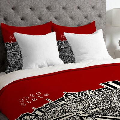 Bird Ave Lightweight Ohio State Buckeyes Duvet Cover Size: Twin